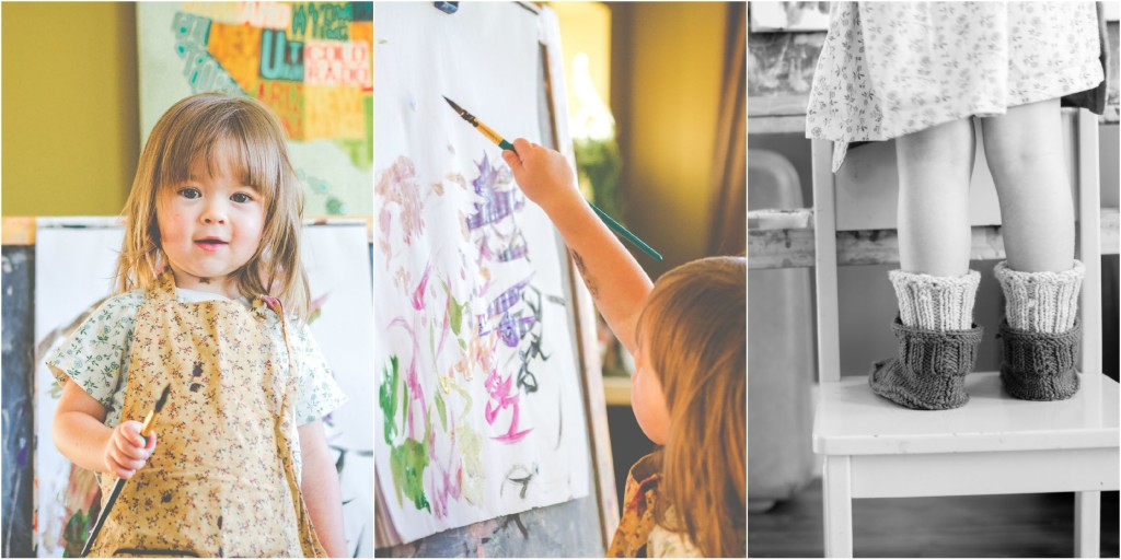Lifestyle photographer | kids painting | traveling photographer living on a bus | bus conversion | capturing children | photography | peaceful learning | unschooling | preschooler | homeschool | learning through play | utah photographer